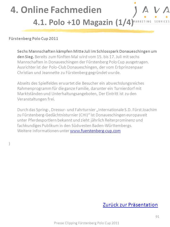 4. Online Fachmedien 4.1. Polo +10 Magazin (1/4)