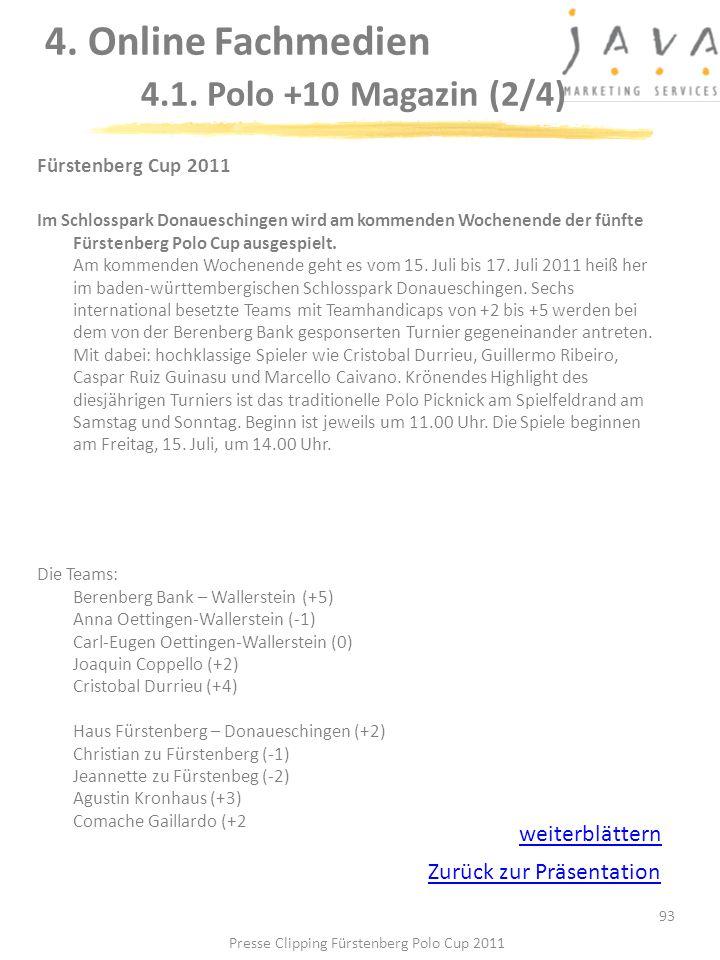 4. Online Fachmedien 4.1. Polo +10 Magazin (2/4)