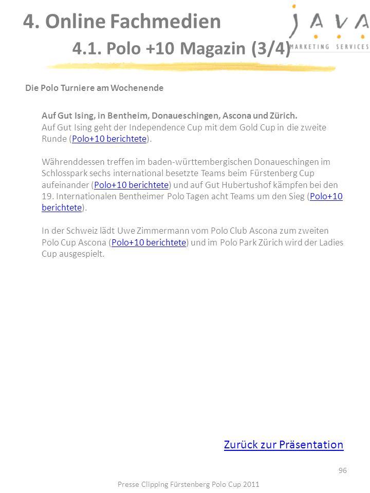 4. Online Fachmedien 4.1. Polo +10 Magazin (3/4)