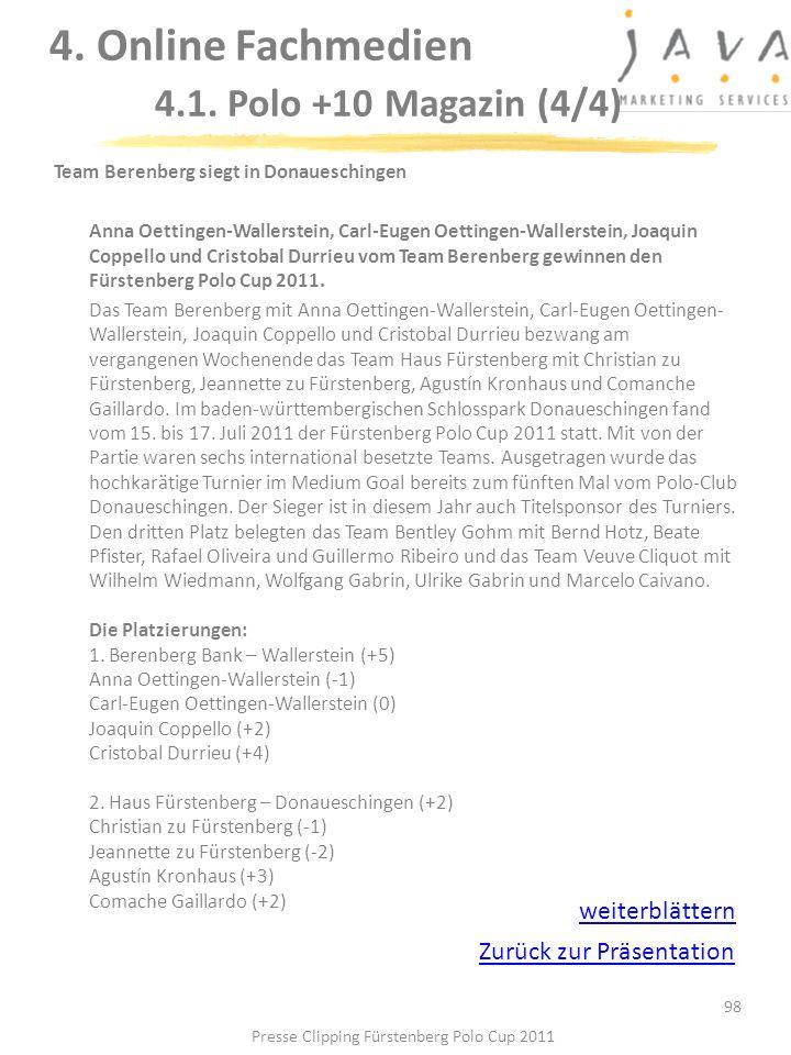 4. Online Fachmedien 4.1. Polo +10 Magazin (4/4)