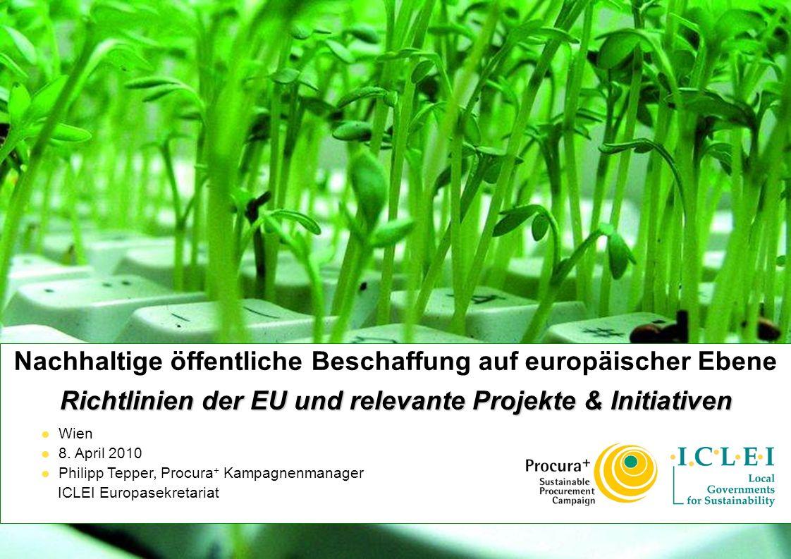 Nachhaltige öffentliche Beschaffung auf europäischer Ebene