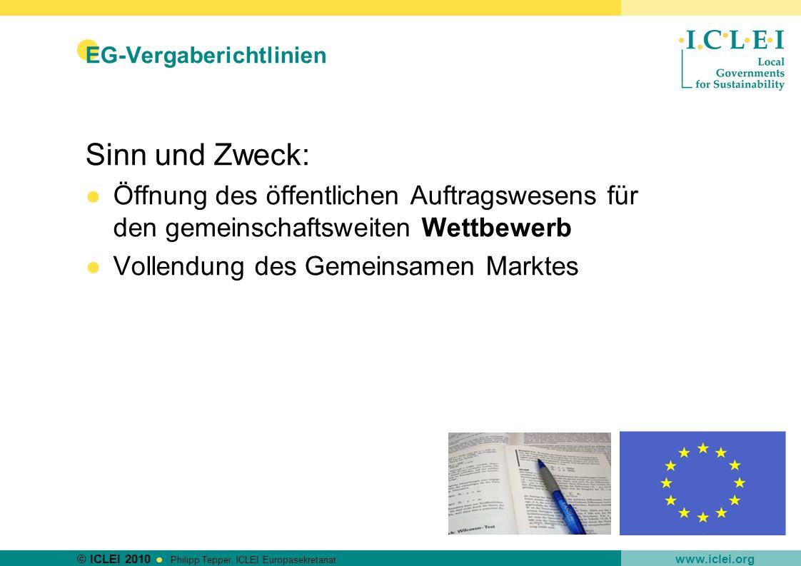 EG-Vergaberichtlinien