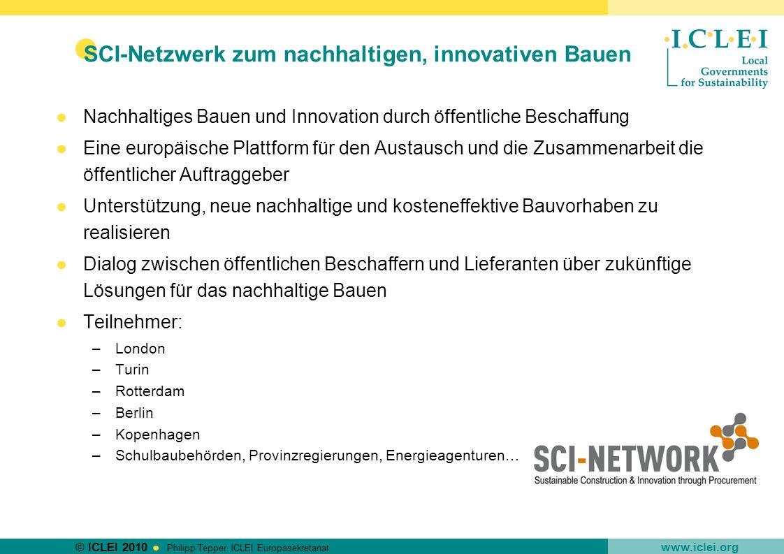SCI-Netzwerk zum nachhaltigen, innovativen Bauen