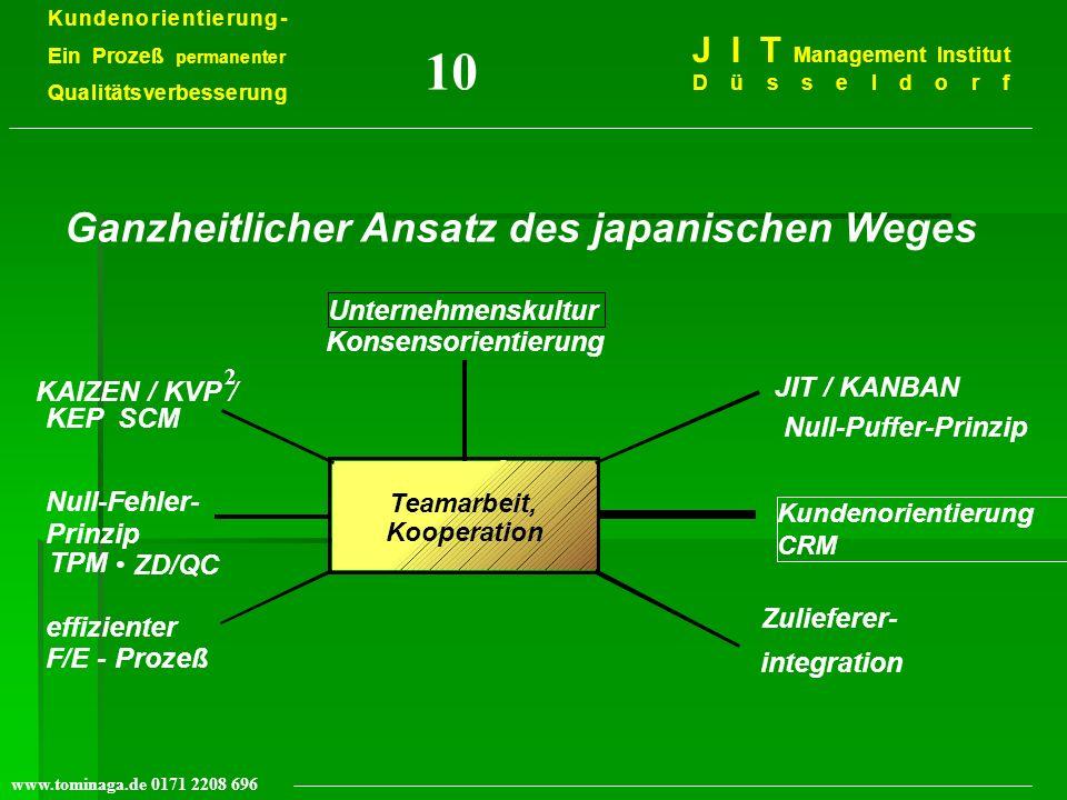 10 Ganzheitlicher Ansatz des japanischen Weges