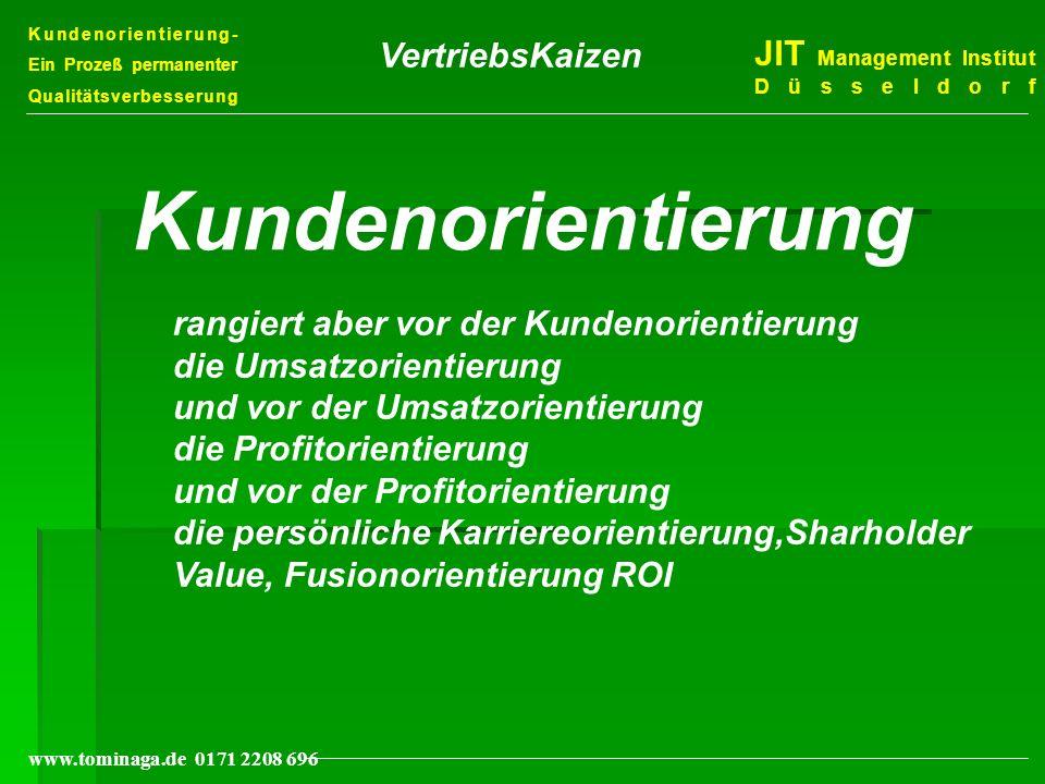 Kundenorientierung VertriebsKaizen JIT Management Institut Düsseldorf