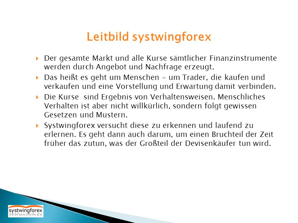 Leitbild systwingforex
