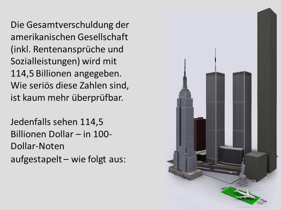 Die Gesamtverschuldung der amerikanischen Gesellschaft (inkl