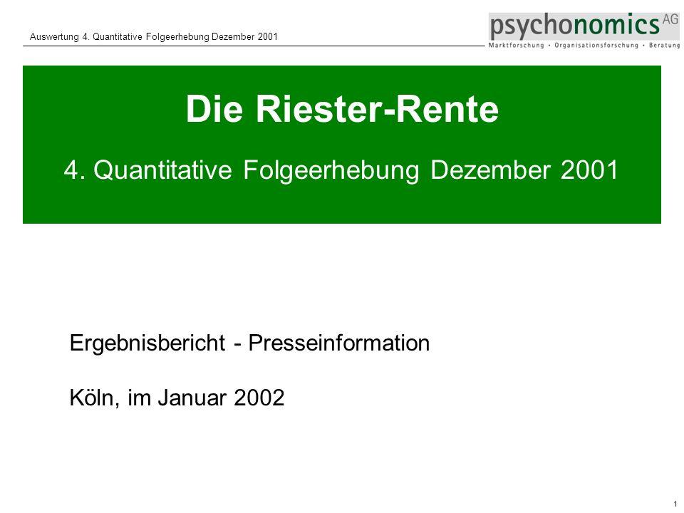 4. Quantitative Folgeerhebung Dezember 2001