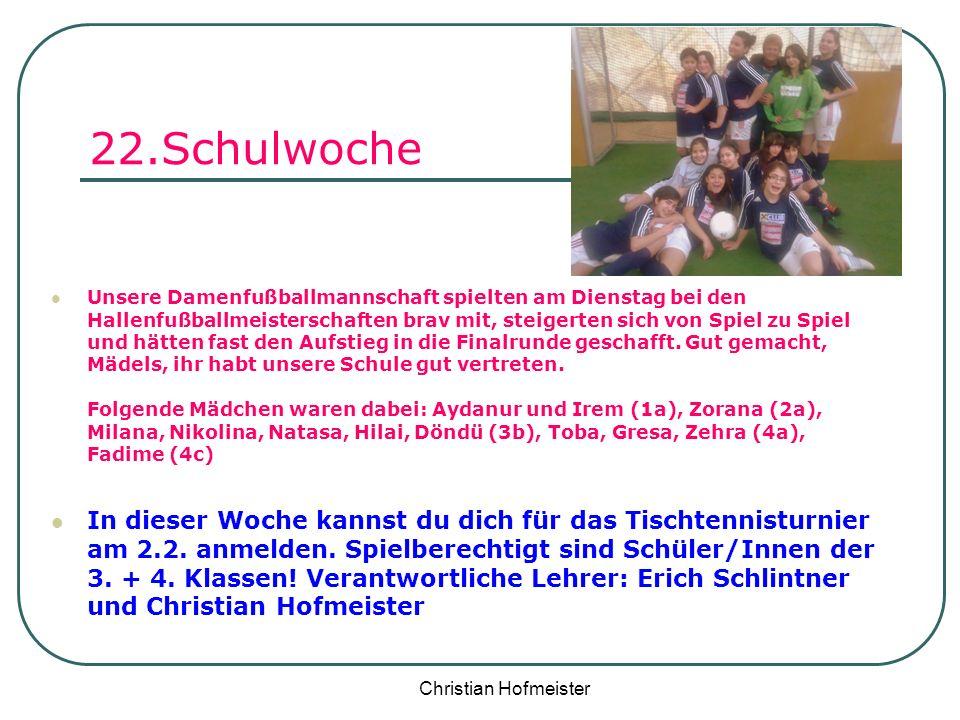 22.Schulwoche