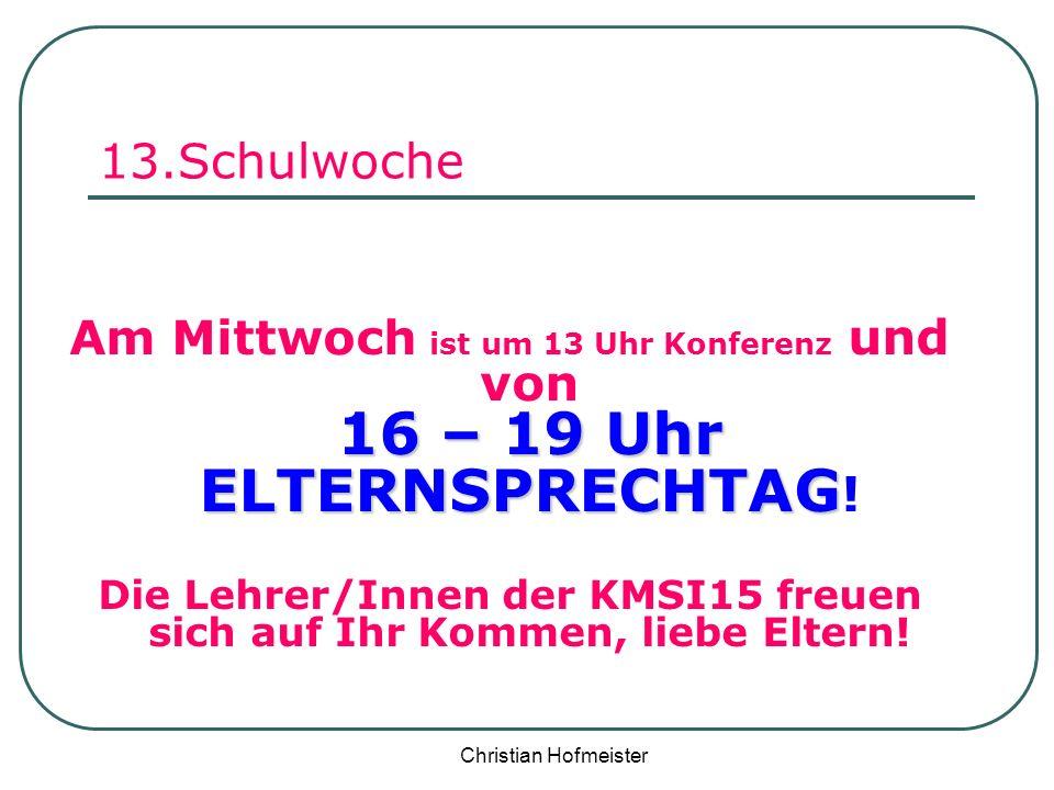 Die Lehrer/Innen der KMSI15 freuen sich auf Ihr Kommen, liebe Eltern!