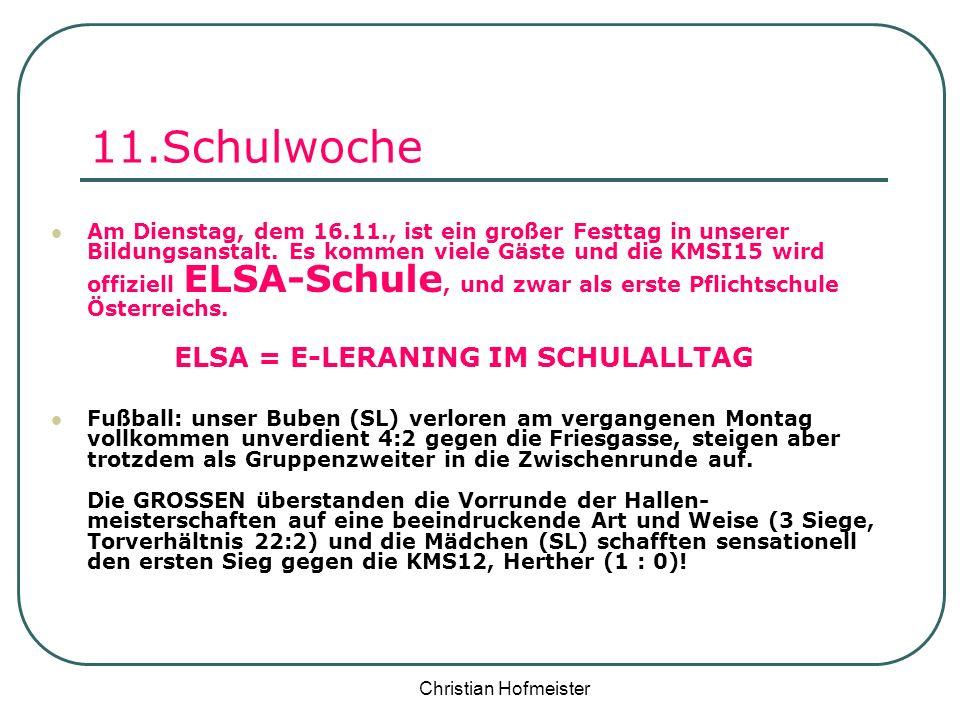 ELSA = E-LERANING IM SCHULALLTAG