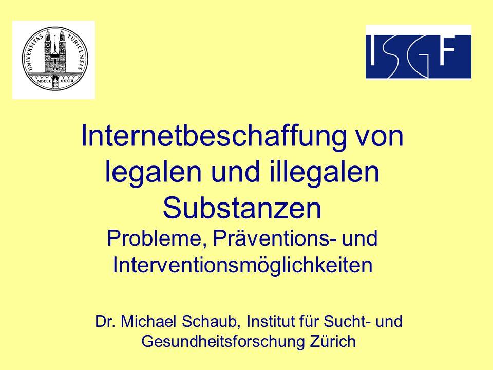 Internetbeschaffung von legalen und illegalen Substanzen