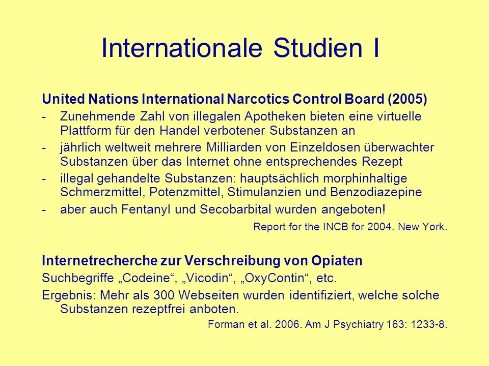 Internationale Studien I