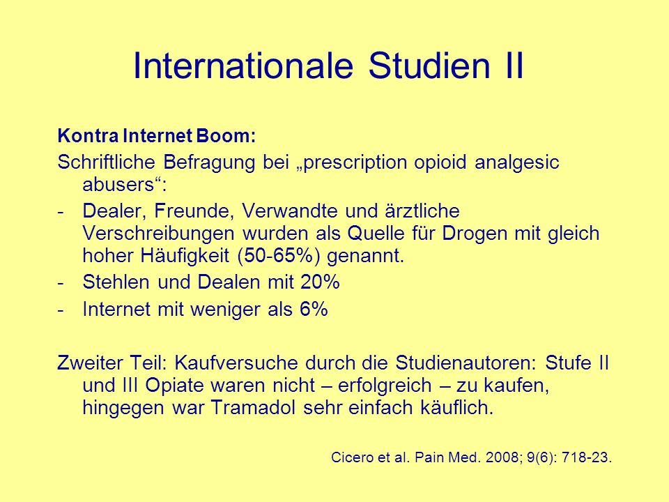 Internationale Studien II