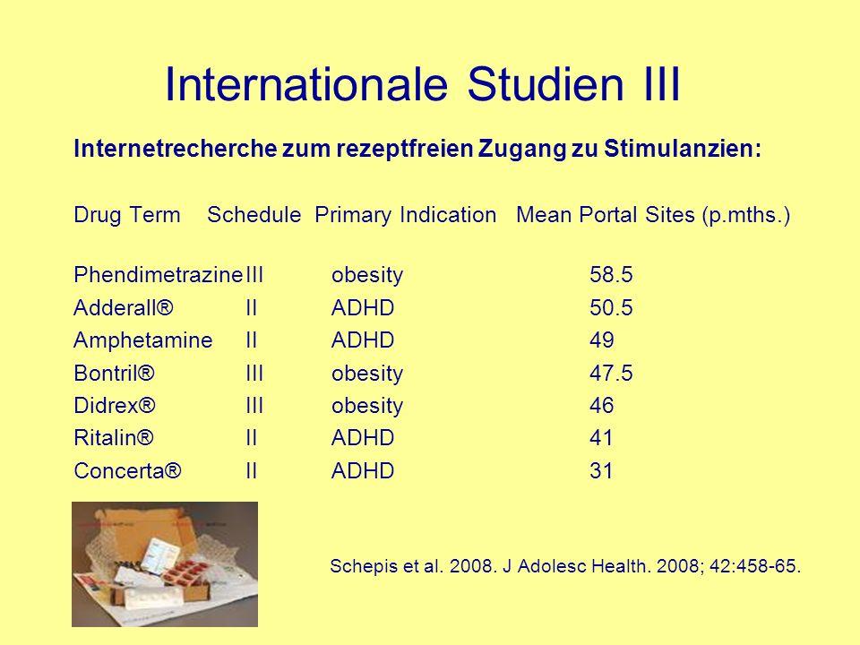 Internationale Studien III