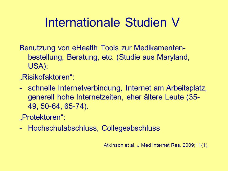 Internationale Studien V
