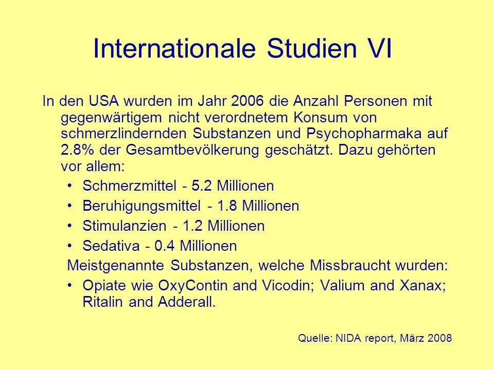 Internationale Studien VI