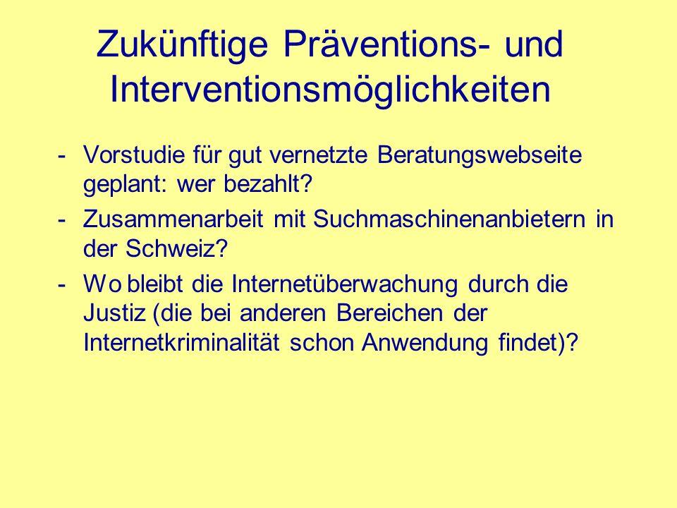 Zukünftige Präventions- und Interventionsmöglichkeiten