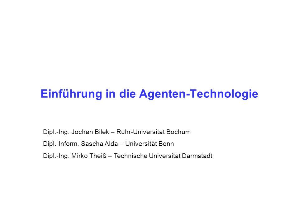 Einführung in die Agenten-Technologie