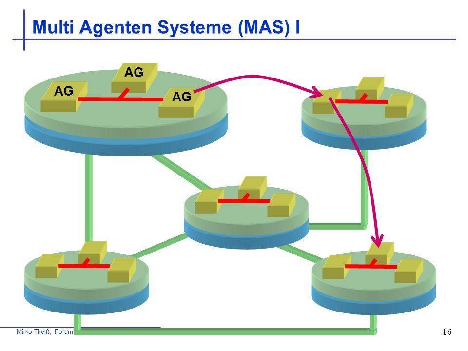 Multi Agenten Systeme (MAS) I