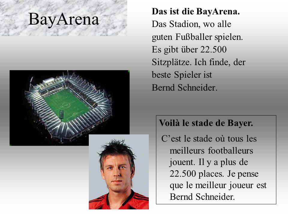 BayArena Das ist die BayArena. Das Stadion, wo alle