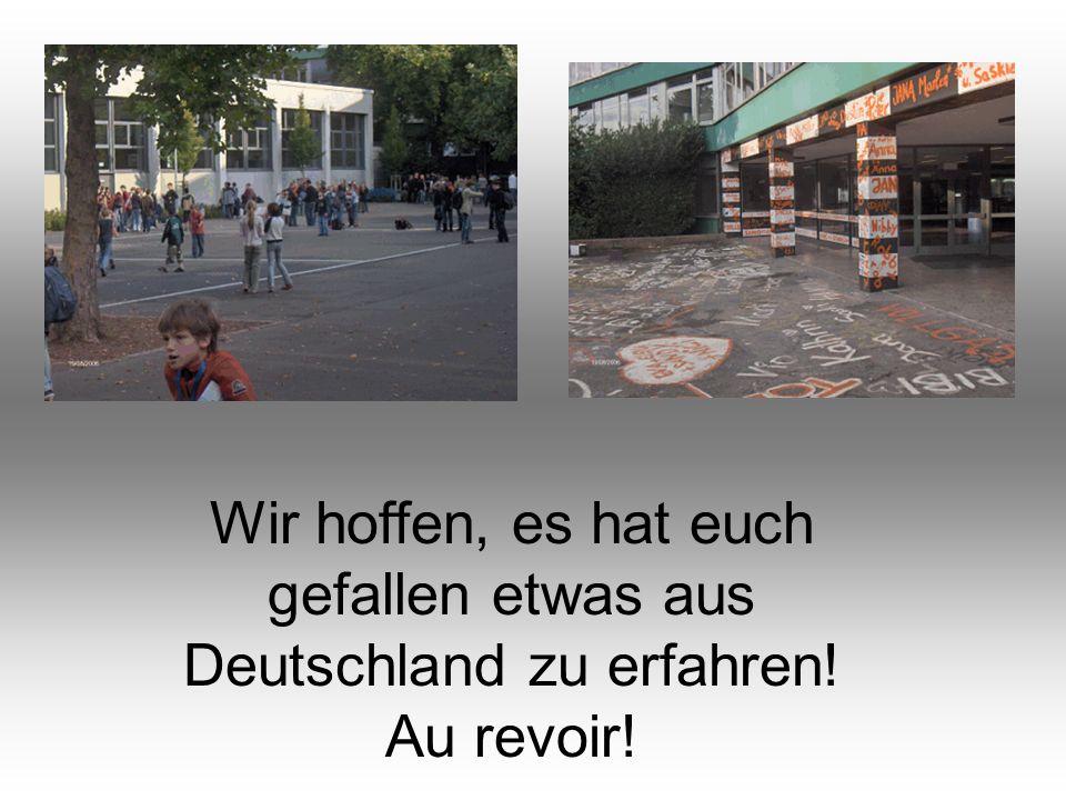 Wir hoffen, es hat euch gefallen etwas aus Deutschland zu erfahren!