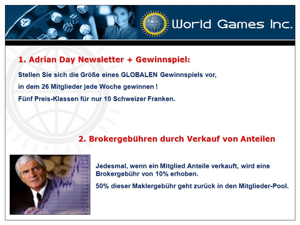1. Adrian Day Newsletter + Gewinnspiel: