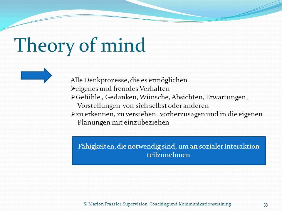 Theory of mind Alle Denkprozesse, die es ermöglichen