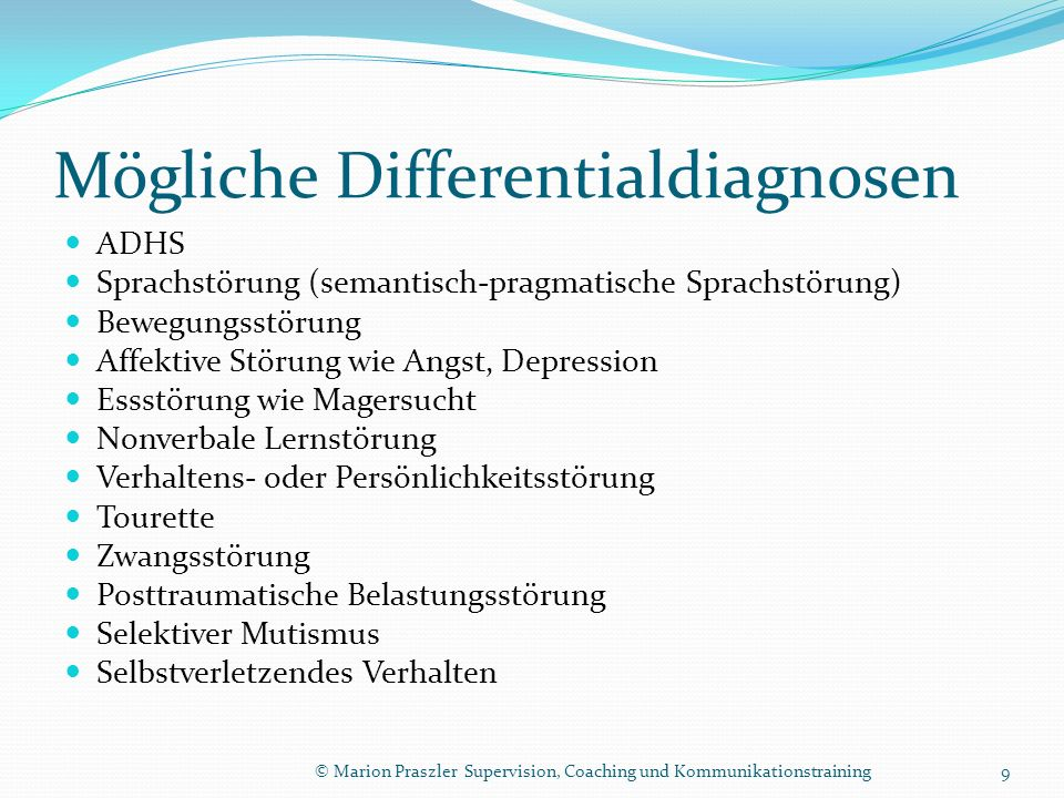 Mögliche Differentialdiagnosen