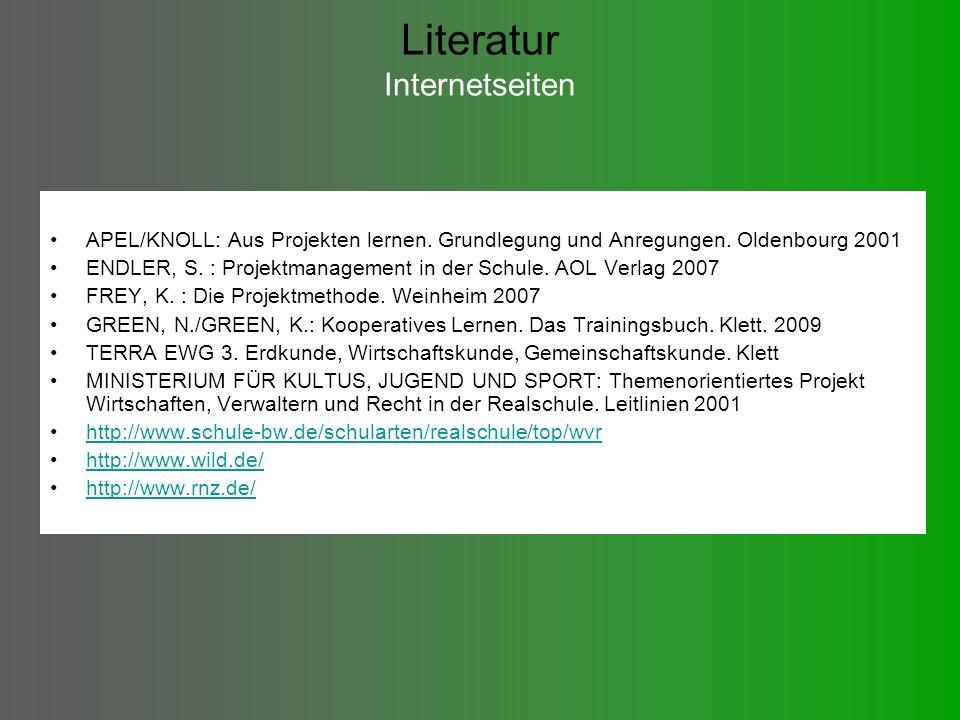 Literatur Internetseiten