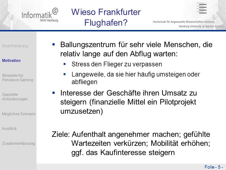 Wieso Frankfurter Flughafen