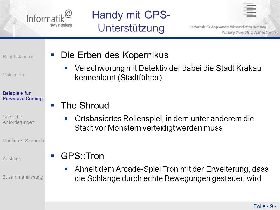 Handy mit GPS-Unterstützung