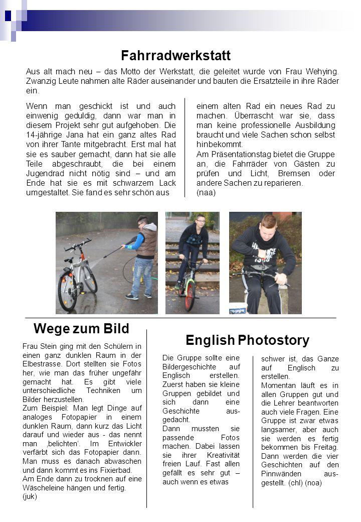 Fahrradwerkstatt Wege zum Bild English Photostory