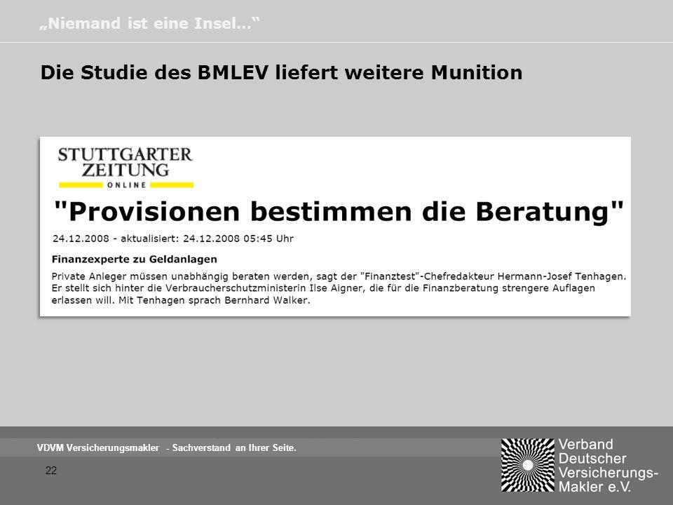 Die Studie des BMLEV liefert weitere Munition
