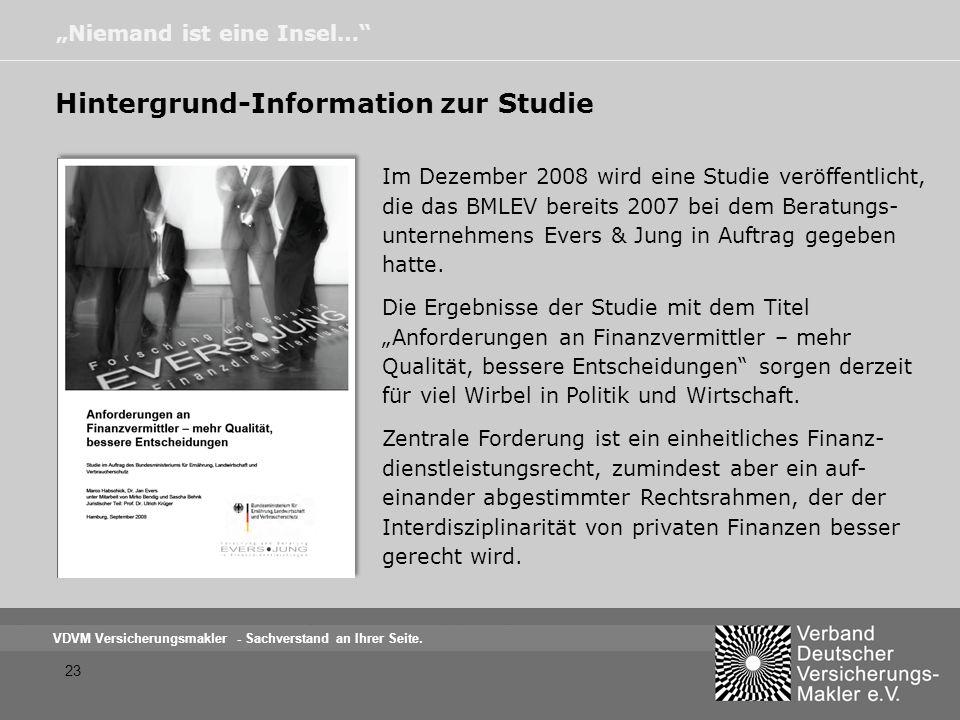 Hintergrund-Information zur Studie