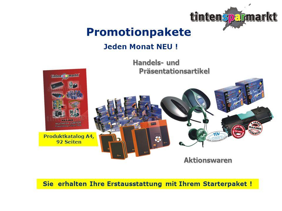 Promotionpakete Jeden Monat NEU ! Handels- und Präsentationsartikel