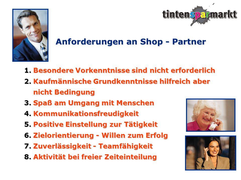 Anforderungen an Shop - Partner