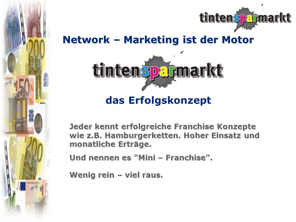Network – Marketing ist der Motor