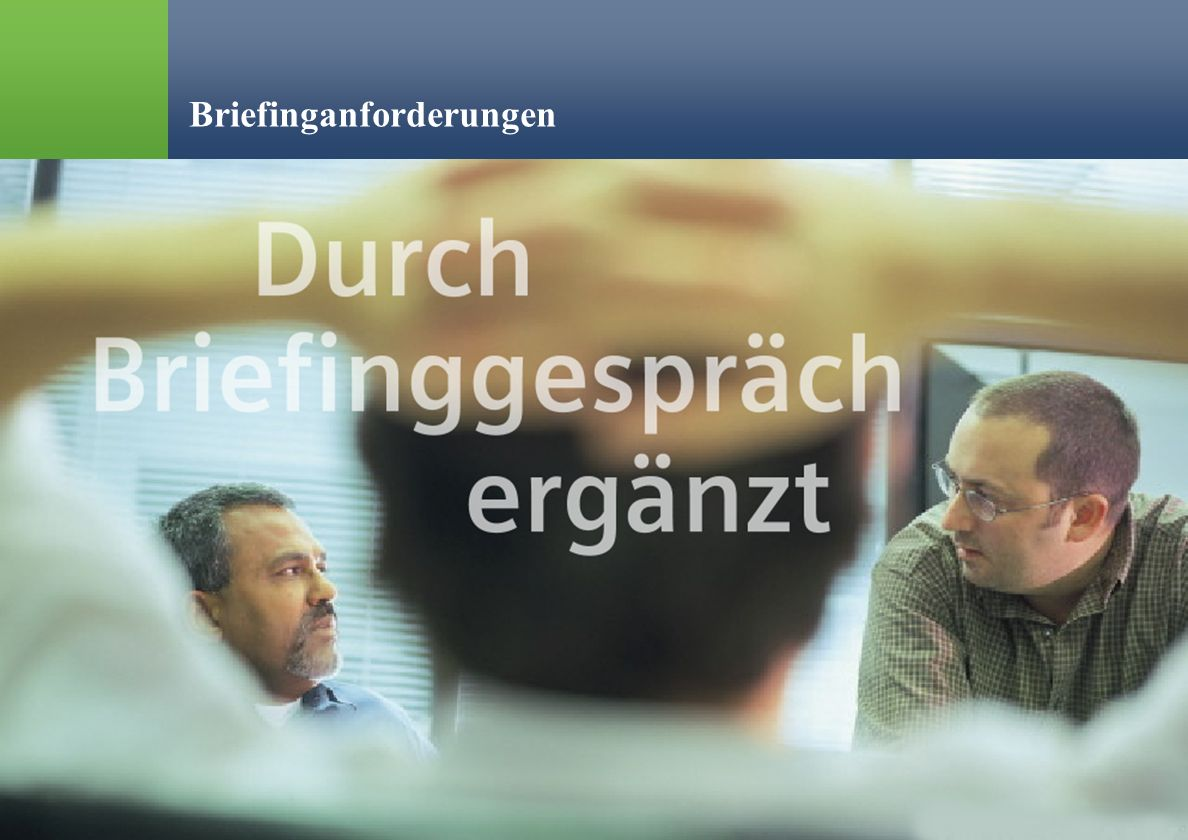 Briefinganforderungen