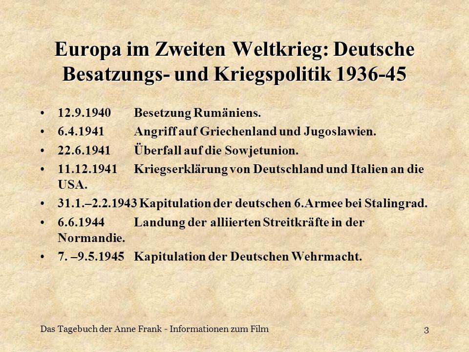 Europa im Zweiten Weltkrieg: Deutsche Besatzungs- und Kriegspolitik 1936-45