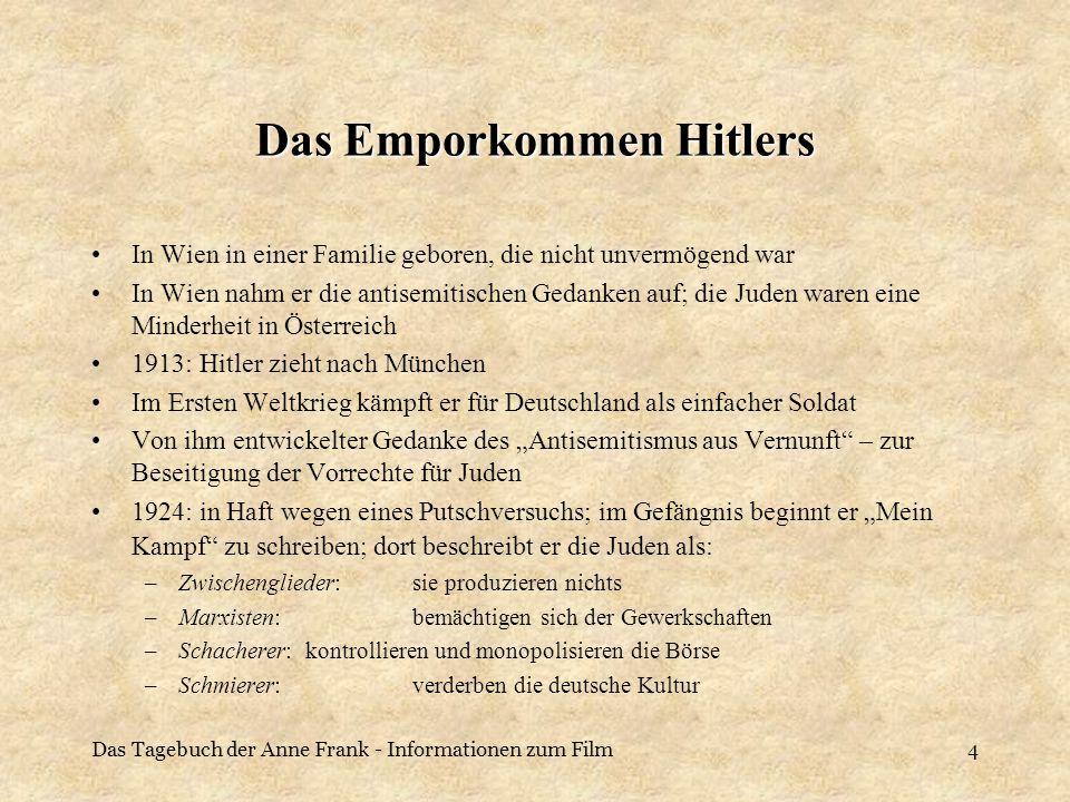 Das Emporkommen Hitlers