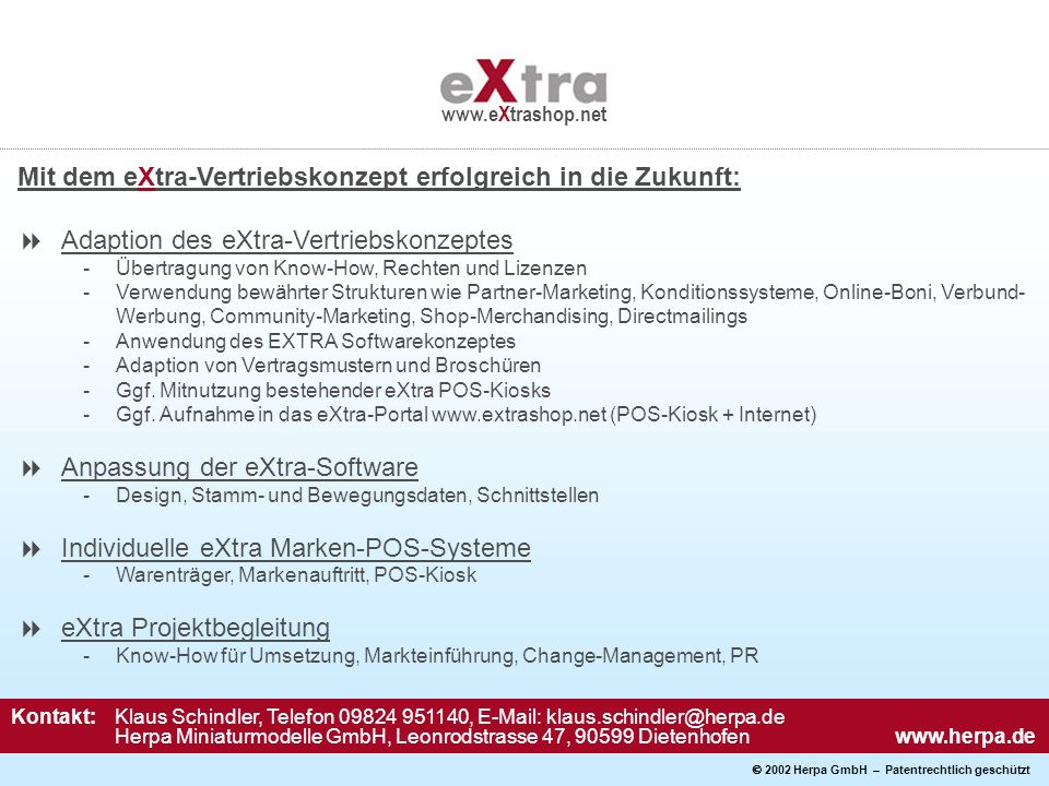 Mit dem eXtra-Vertriebskonzept erfolgreich in die Zukunft: