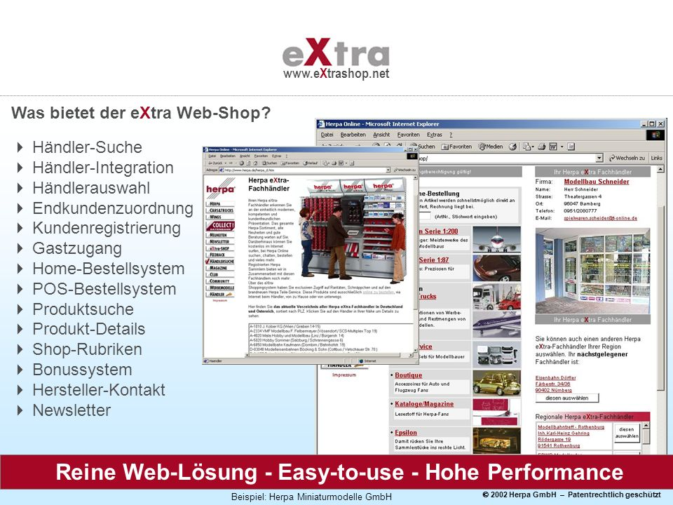 Reine Web-Lösung - Easy-to-use - Hohe Performance