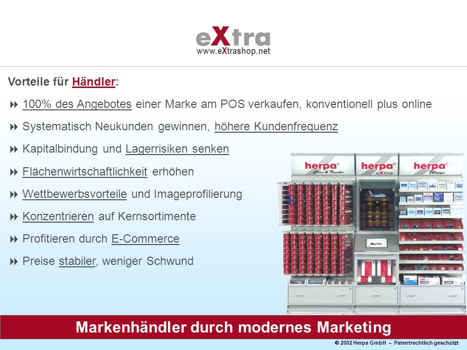 Markenhändler durch modernes Marketing