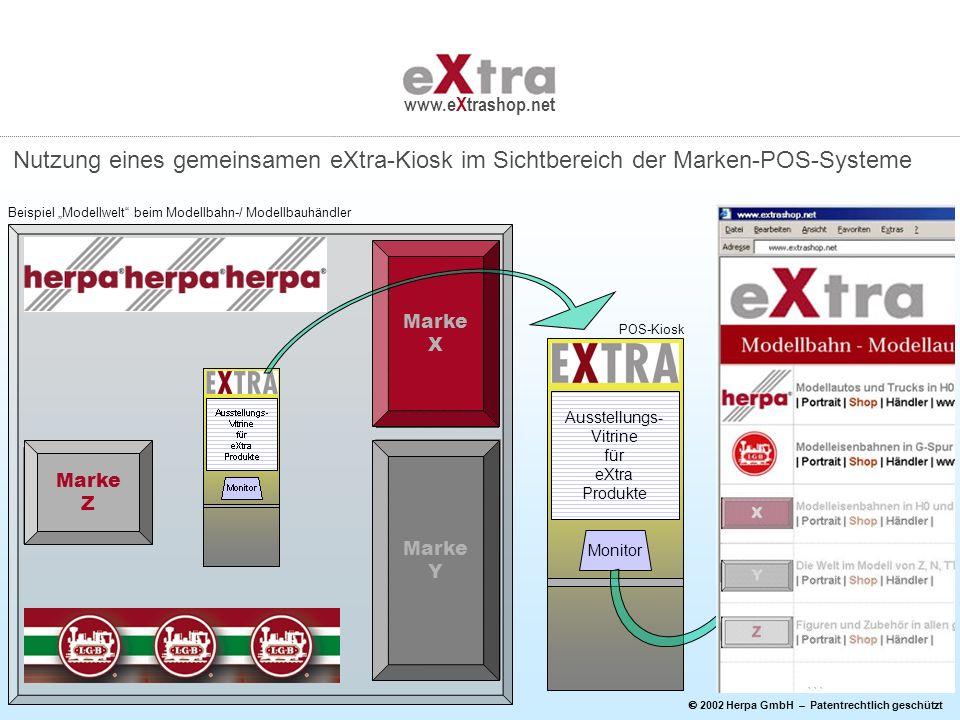Ausstellungs- Vitrine für eXtra Produkte