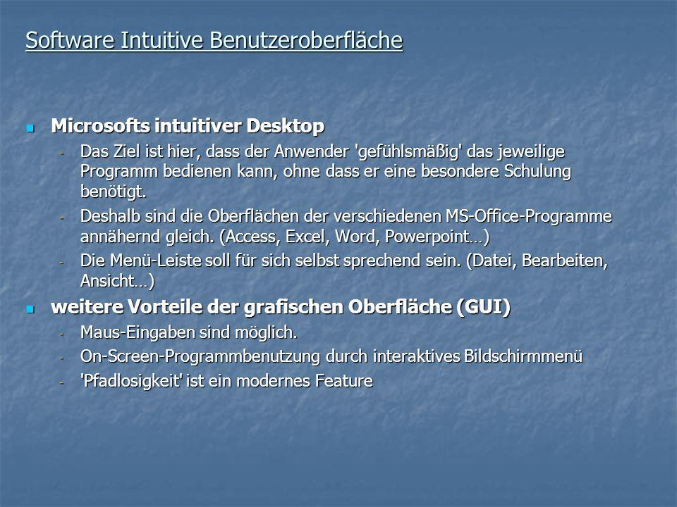 Software Intuitive Benutzeroberfläche