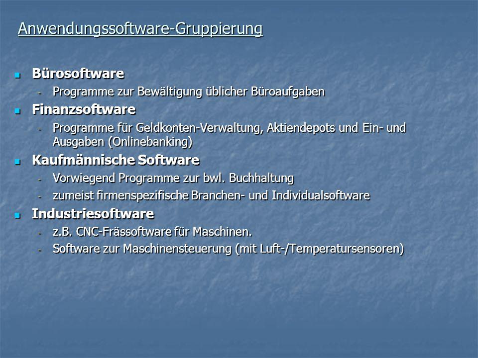 Anwendungssoftware-Gruppierung