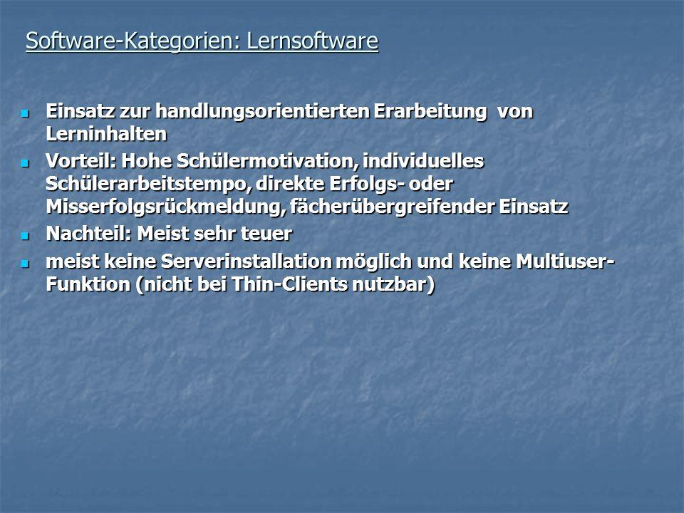 Software-Kategorien: Lernsoftware