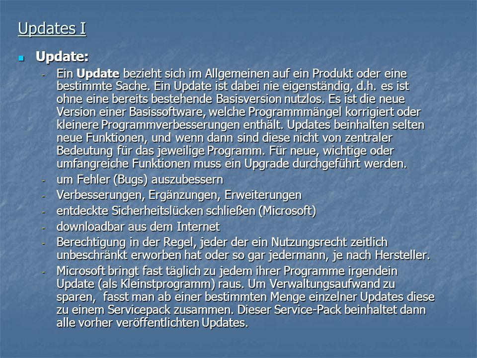 Updates I Update: