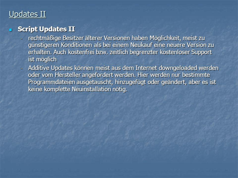 Updates II Script Updates II